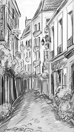 Paris street - illustration illustration