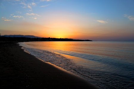 peloponnese: sunset in Greece