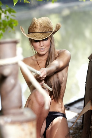 cowgirls: Sexy Cowgirl  Stock Photo