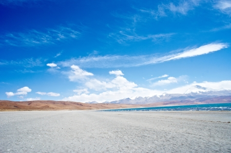 The lake Rakshas Tal , Tibet landscape photo