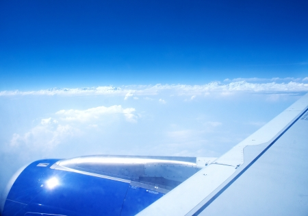 airplane wing viewing Stock Photo - 13843277