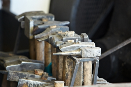 malleable: hammer and anvil used by a blacksmith  Stock Photo