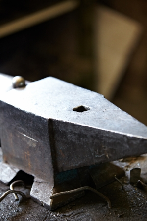 hammer and anvil used by a blacksmith  photo