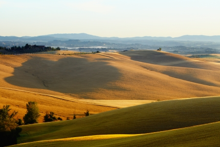 Countryside landscape in Tuscany region of Italy  photo