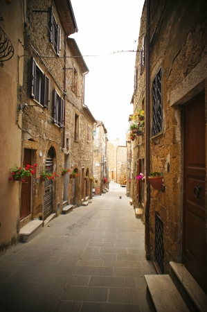 cobbled: small backstreet in an italian village