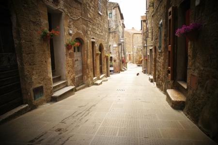 vintage: typische italiaanse smalle straat Stockfoto