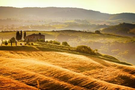 campagna: Veduta di tipico paesaggio toscano Archivio Fotografico