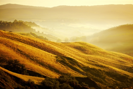 View of typical Tuscany landscape  photo