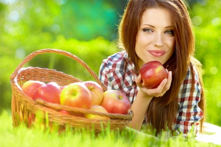 Portrait of a beautiful woman in the garden Stock Photo - 14532667