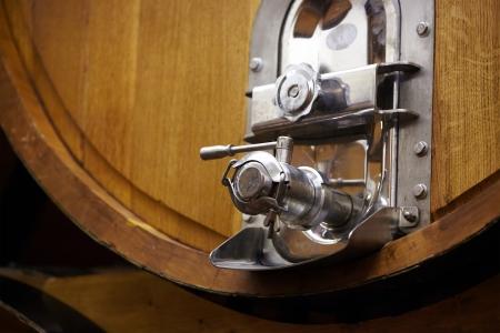 barrels in a wine cellar  photo