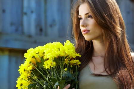 young beautiful smiling woman outdoors Stock Photo - 14781022