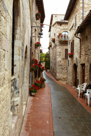 typical italian nook in tuscan village, photo