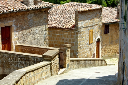 nook: typical italian nook in tuscan village, Stock Photo