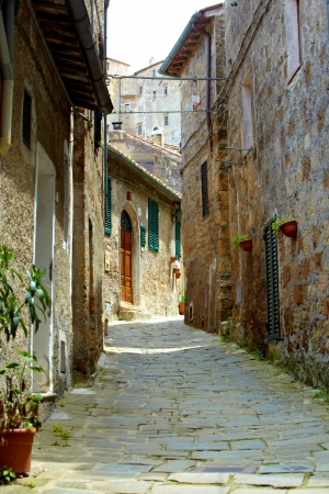 toscana: typical italian nook in tuscan village, Stock Photo