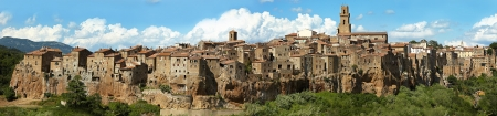 Panorama of Pitigliano, Tuscany photo