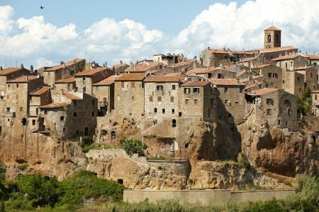 italian village:  Panorama of Pitigliano, Tuscany
