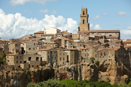 Panorama of Pitigliano, Tuscany  photo