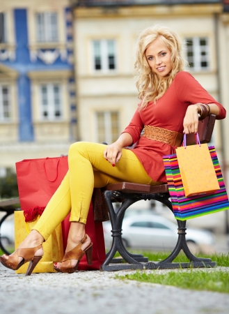 Beautiful shopping woman photo