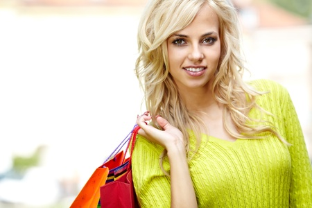 Autumn shopping woman Stock Photo - 15040495