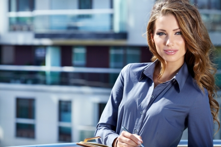 Attractive  Real Estate Agent Woman photo