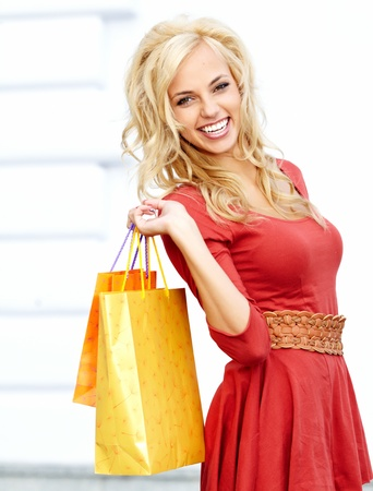 Shopping in city Stock Photo - 15061840