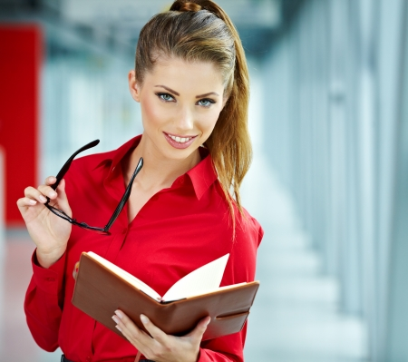 modern office space: Modern business woman in the office with copy space