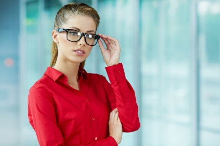 Modern business woman in the office with copy space Stock Photo - 15256443