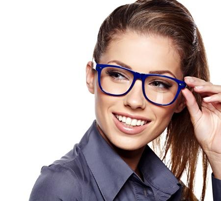 メガネのビジネスウーマン