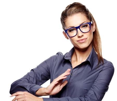 business woman in glasses Stock Photo - 15314008