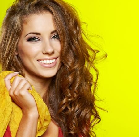 model nice: Autumn woman portrait