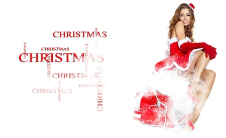 sexy santa m�dchen: beautiful sexy girl wearing santa claus Kleidung