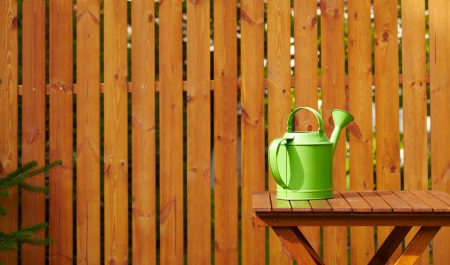wood lawn: Garden tools on the wooden background