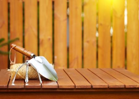 veranda: autumn gardening tools