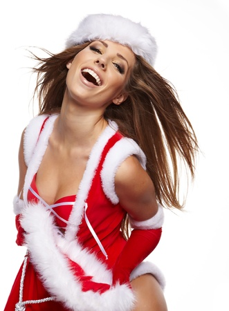 Christmas women with gifts photo