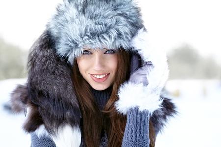 Young woman winter portrait  Shallow dof