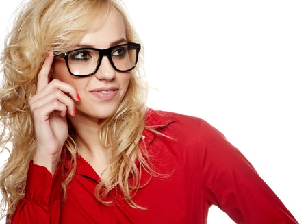 business woman in glasses Stock Photo - 15941502