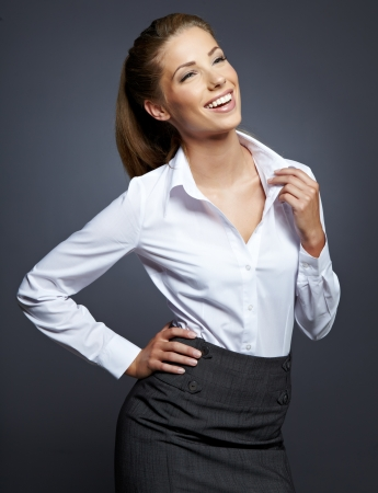 Portrait of young smiling businesswoman Stock Photo - 16062115