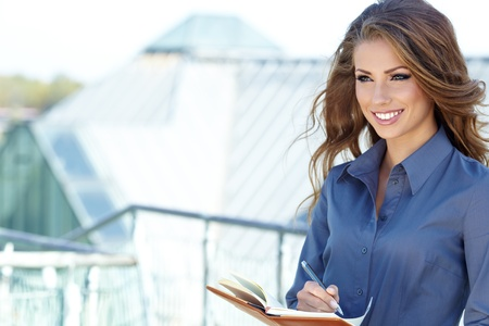 Attractive Real Estate Agent Woman Stock Photo - 15966140