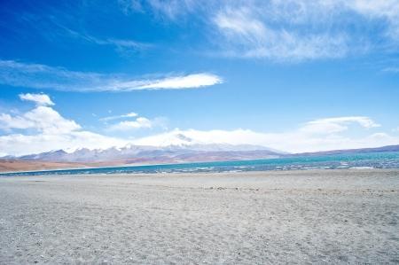 tal: The lake Rakshas Tal , Tibet landscape