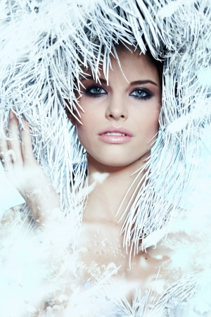 Fashion Beautiful Winter Woman photo