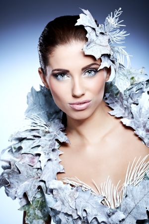 Winter queen woman photo