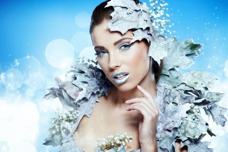 maquillaje fantasia: fantas�a retrato invierno
