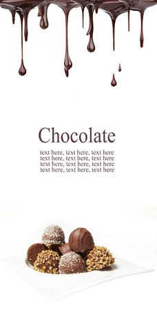 chocolate background: Delicious chocolate pralines