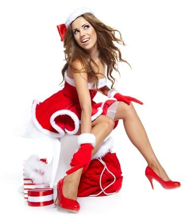 sexy santa m�dchen: sexy M?dchen tragen santa claus Kleidung Lizenzfreie Bilder