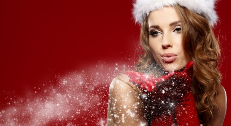 christmas woman  Stock Photo - 16333397