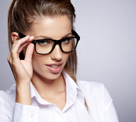 business woman in glasses  Stock Photo - 16333439