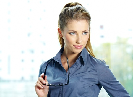 business woman in glasses Stock Photo - 16333282