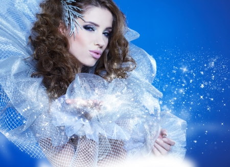 Fantasy winter queen photo
