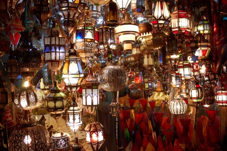 arabic lamps and lanterns  photo