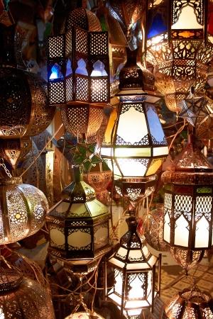marrakech: arabic lamps and lanterns